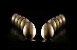 Złociści Emerytalni jajka II Fotografia Stock
