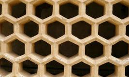 złociści fortu honeycomb ind deseniowali windowcover obrazy royalty free