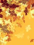 Złociści jesień liście royalty ilustracja