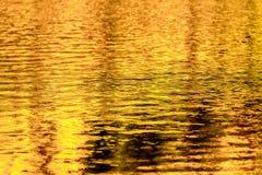 Złociści jesieni jeziora odbicia Zdjęcia Royalty Free