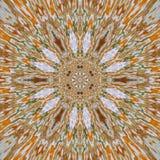 Złociści mandala wzoru skutka pic promienie ilustracja wektor