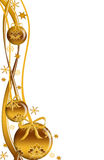 złociści piłek boże narodzenia royalty ilustracja