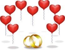 Złociści pierścionki Obraz Royalty Free
