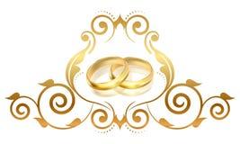 Złociści pierścionki Obrazy Royalty Free