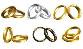 Złociści pierścionki Zdjęcia Royalty Free