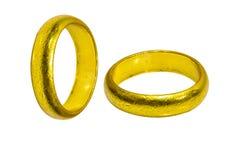 Złociści pierścionki Zdjęcie Royalty Free