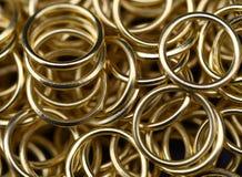 Złociści pierścionki Fotografia Royalty Free