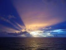 Złociści promienie słońce obraz royalty free