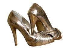 złociści seksowni buty Obraz Royalty Free