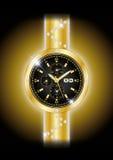 Złociści zegarki Zdjęcia Stock