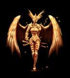Złoci aniołów samurajowie royalty ilustracja