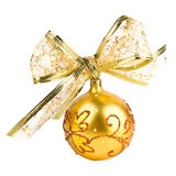 złoci balowi boże narodzenia Obrazy Royalty Free