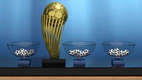 Złoci balowi trofeum i loterii kosze Fotografia Royalty Free