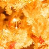 Złoci boże narodzenie ornamenty Obrazy Stock