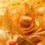Złoci boże narodzenie ornamenty Obraz Royalty Free