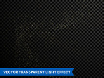 Złoci confetti połyskują cząsteczki, spada błyszczące gwiazdy, błyska złocistego pył ilustracja wektor