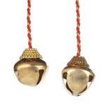 Złoci dźwięczenie dzwony na arkanie. Obrazy Royalty Free