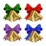złoci dzwonów boże narodzenia Zdjęcia Stock