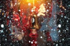 złoci dzwonkowi boże narodzenia Zdjęcie Royalty Free