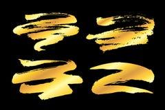 Złoci farb uderzenia ilustracja wektor