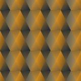 Złoci heksagonalni wzory z 3d złudzeniem, bezszwowy luksusowy tło w art deco stylu Obraz Stock