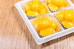Złoci Jackfruit ziarna, Spotykający Khanoon: TAJLANDZKI deser zdjęcia stock