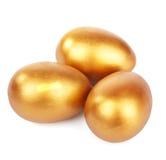 Złoci jajka   fotografia stock