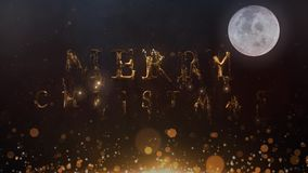 Złoci Kruszcowi Wesoło boże narodzenia Powstają Santa księżyc 4K pętlę zbiory