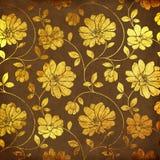 Złoci kwiaty royalty ilustracja
