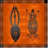 Złoci ornamenty kraje afrykańscy i plemiona ilustracja wektor
