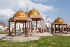 Złoci pawilony w Muttrah, Oman Zdjęcie Royalty Free