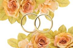 złoci pierścionki Obrazy Royalty Free