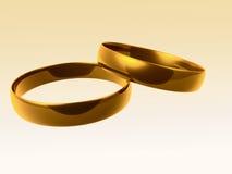 złoci pierścionki ilustracja wektor