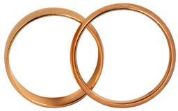 złoci pierścionki Obraz Royalty Free