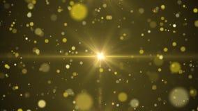 Złoci promienie światło z cząsteczkami iść od centrum royalty ilustracja