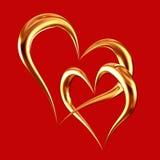 złoci serca Zdjęcie Stock