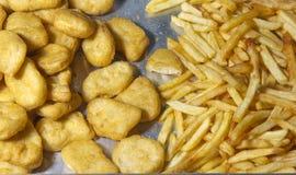 Złoci Smażący foods Fotografia Royalty Free