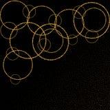 Złoci spada okręgi Złoci pierścionki - Vektorgrafik eps 10 ilustracja wektor