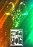 Złoci 2015 Szczęśliwych nowy rok kartka z pozdrowieniami z Fotografia Royalty Free