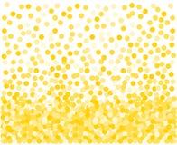 złoci tło confetti ilustracji