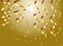 złoci tło confetti Obraz Stock