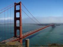 Złoci Wrota mgła i most Zdjęcia Royalty Free