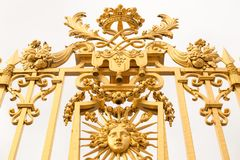 Złoci wrota pałac Versailles, górska chata de Versailles lub Versailles, po prostu, w Francja Obraz Stock