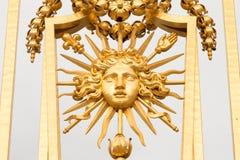 Złoci wrota pałac Versailles, górska chata de Versailles lub Versailles, po prostu, w Francja Zdjęcia Royalty Free
