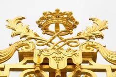 Złoci wrota pałac Versailles, górska chata de Versailles lub Versailles, po prostu, w Francja Obrazy Stock
