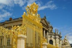 Złoci wrota przy wejściem Versailles Obrazy Royalty Free