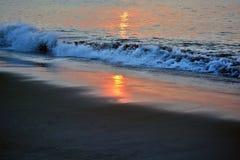 Złoci wschodów słońca morza Obraz Royalty Free