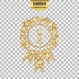 Złocista błyskotliwości ikona royalty ilustracja