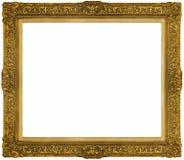 Złocista barok rama odizolowywająca na białym tle Fotografia Stock