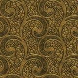 Złocista bezszwowa tekstura z zawijasa wzorem ilustracji
